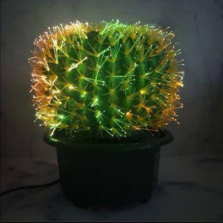Colourful cactus spinning lamp
