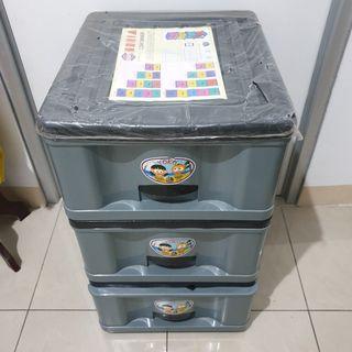 MURAH!! Container Kecil 3 Susun Rak Baju Serbaguna