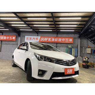 2014 Toyota Altis 1.8E版高階 蒼霜白 非自售 代步車 實車實價