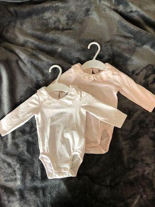 H&M Baby Girl Long sleeves Bodysuits