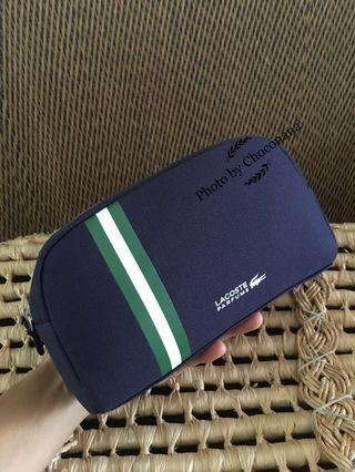 Ready stock: Original Lacoste Parfums Canvas pouch (large)