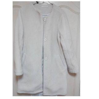 白色毛毛大衣 日本專櫃 只穿三次內 限時優惠