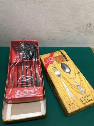 復古 不鏽鋼餐具🍴 2 盒