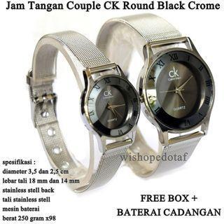 jam tangan Pasangan KC KW Stainless Crome