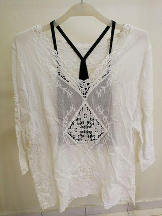 White Lace Top #mycybersale