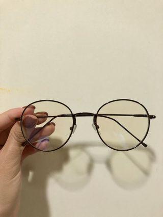 無度數咖啡色細框圓框眼鏡