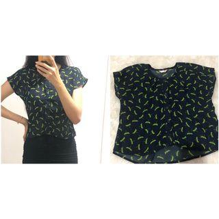 Kemeja flamingo (crop top)