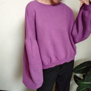 Balooned Oversized Purple Sweater