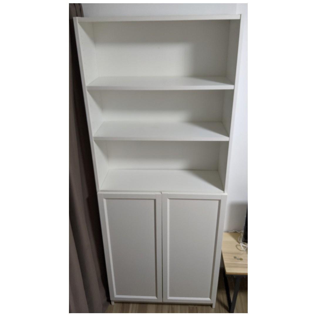 1 Unit Of Double Billy Bookcase W Half Panel Door