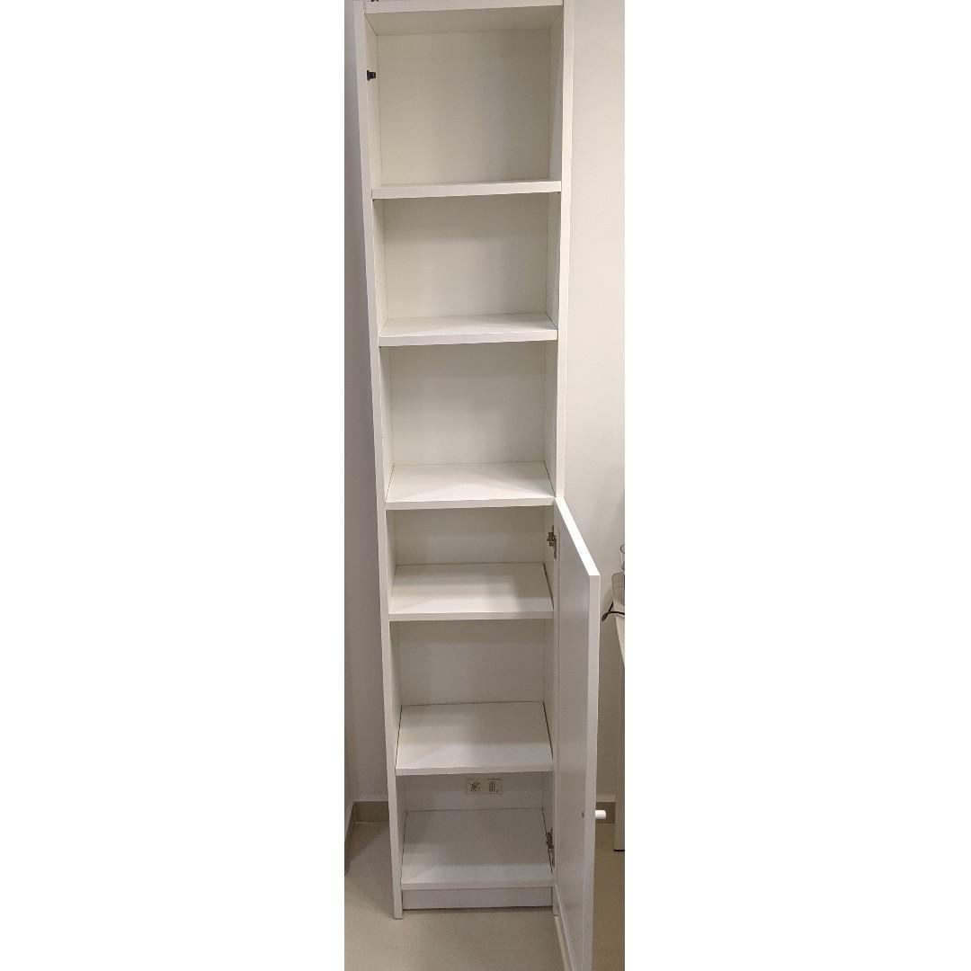 1 Unit Of Ikea Single Billy Bookcase W Half Panel Door
