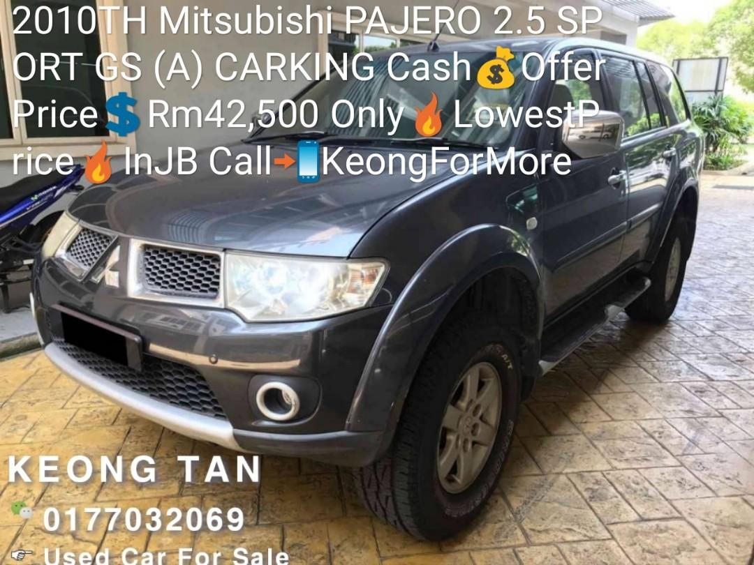 2010TH Mitsubishi PAJERO 2.5 SPORT GS (A) CARKING Cash💰OfferPrice💲Rm42,500 Only🔥LowestPrice🔥InJB Call📲KeongForMore🤗