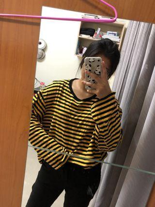 🇰🇷韓國帶回條紋oversize長袖上衣