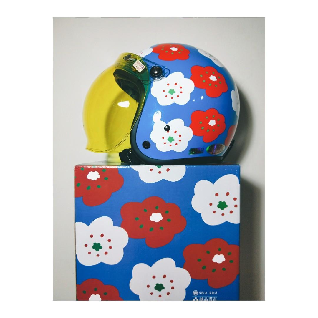 現貨 SOU.SOU 日本京都設計風 X 誠品聯名印花安全帽