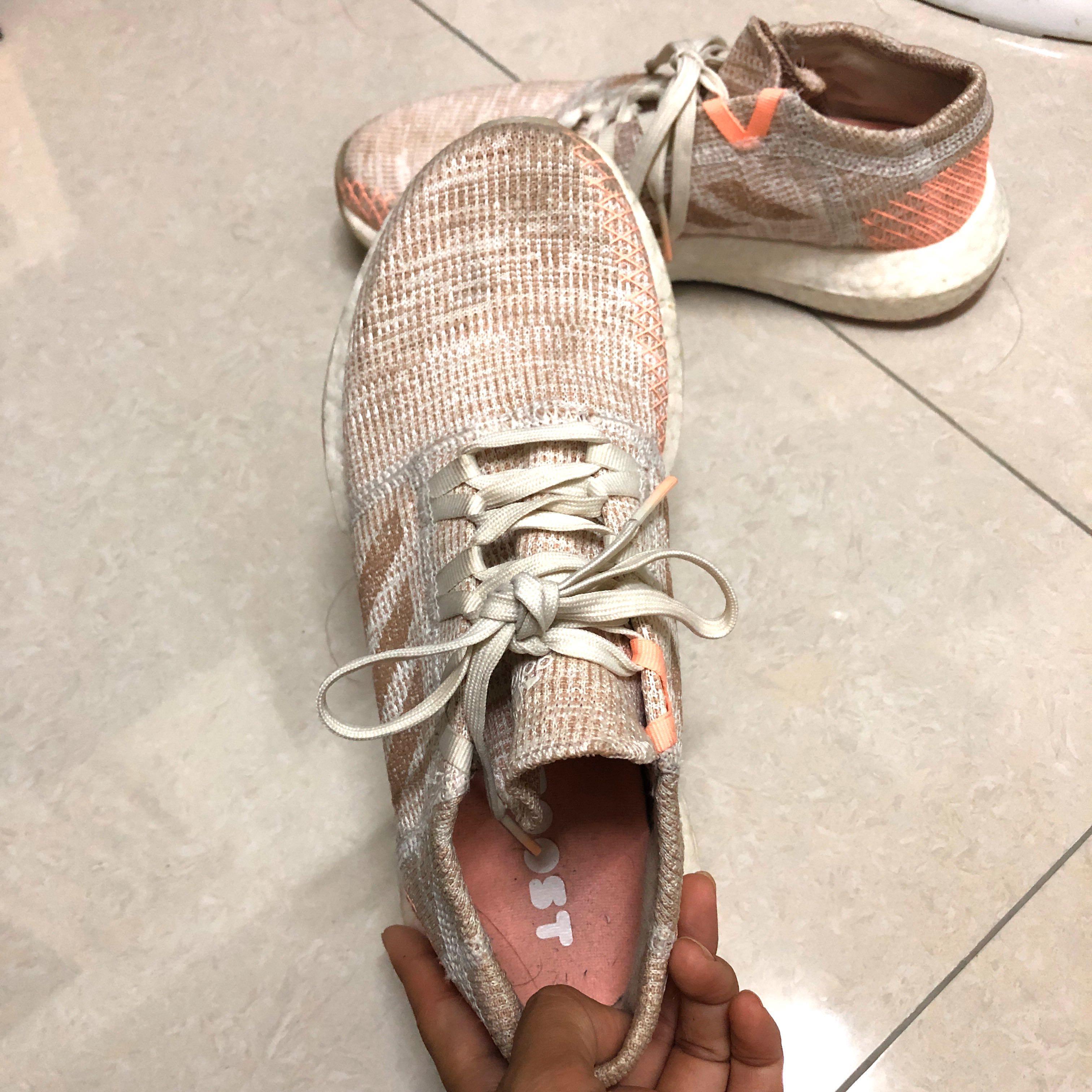 [二手]adidas pureBOOST GO 橘粉色 #23CM