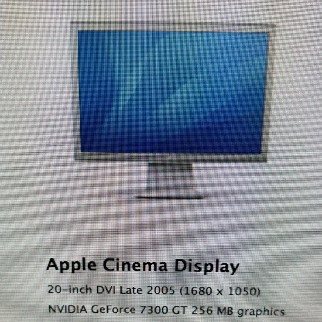 Apple monitor Display 20 inch