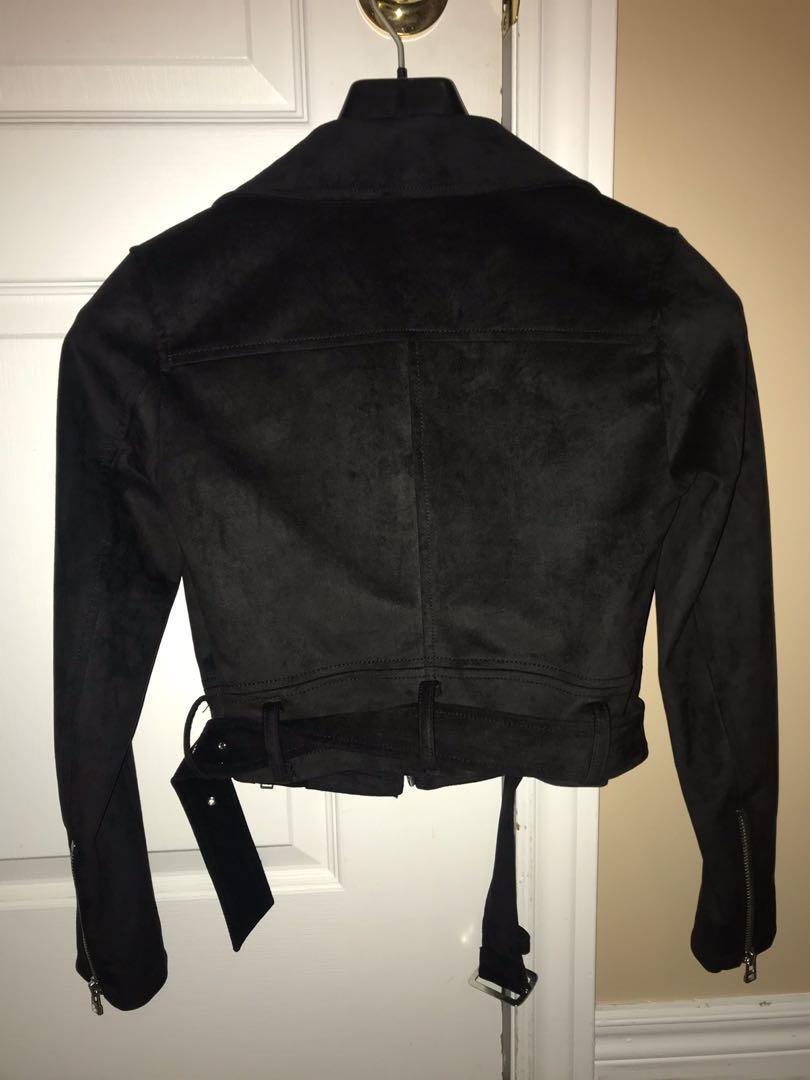 Aritzia suede leather jacket