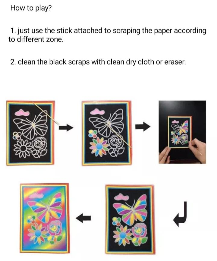 Art magic scratch painting