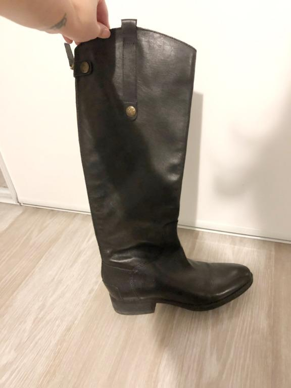 Authentic SAM EDELMAN Leather Riding Boots (Size 6) LIKE NEW