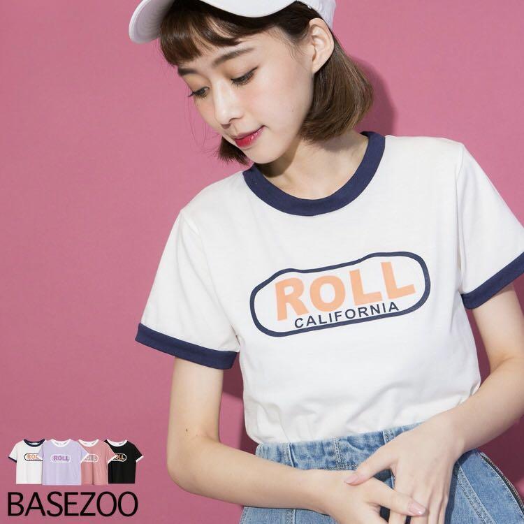 Basezoo ROLL配色短版棉T #五折清衣櫃