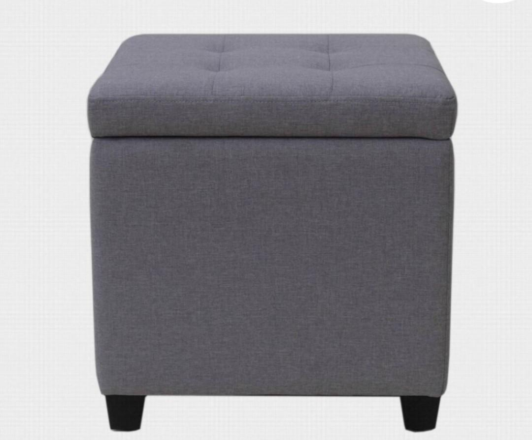 Brand New Hometrends Storage Small Ottoman with tray top