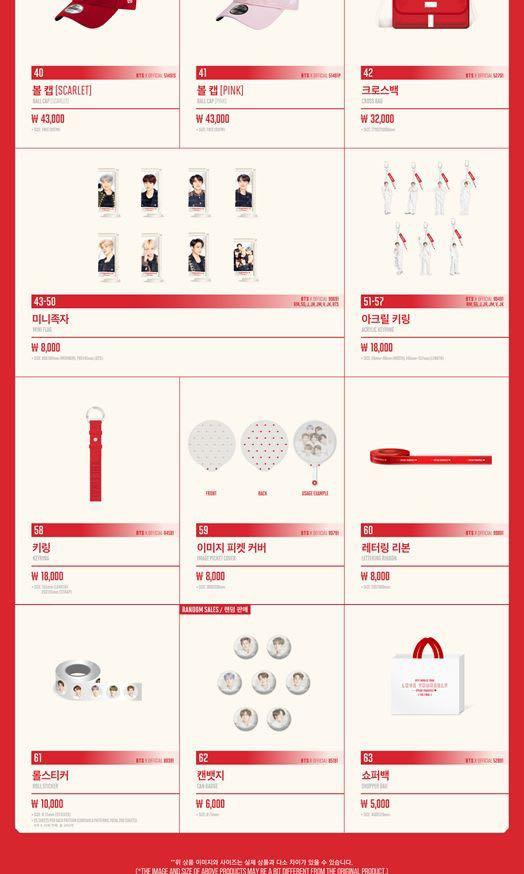 BTS WORLD TOUR 'LOVE YOURSELF : SPEAK YOURSELF' The Final Seoul Concert Official Merch