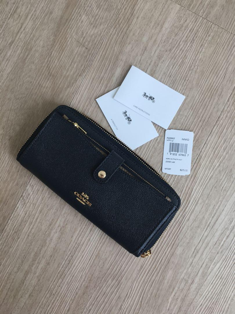 Coach Wallet Navy Blue New Authentic