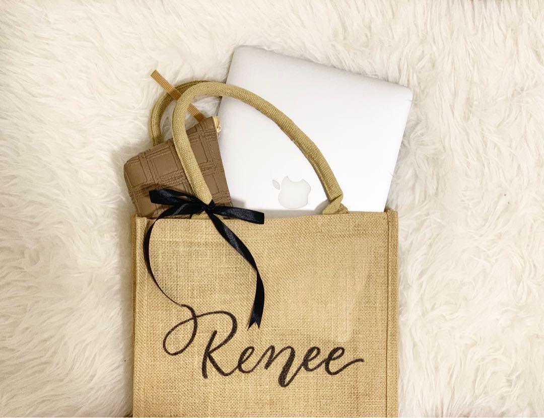Personalized jute bag