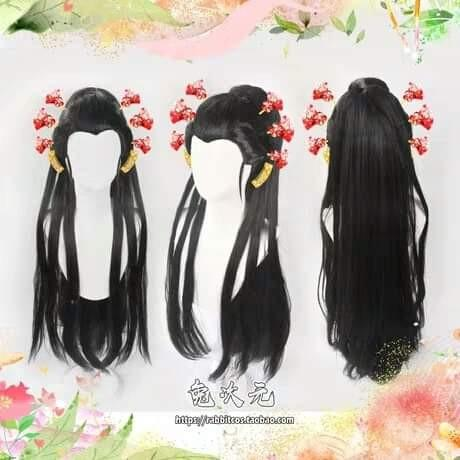 👹DAKI COSPLAY WIG KIMETSU NO YAIBA ANIME FORMER UPPER MOON SIX DEMON SLAYER COSTUME👹