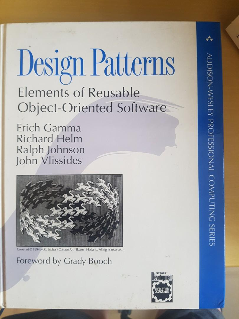Design Patterns Elements Of Reusable Object Oriented Software Books Stationery Textbooks Tertiary On Carousell