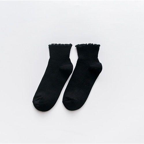Elegant Frilled Ankle Socks
