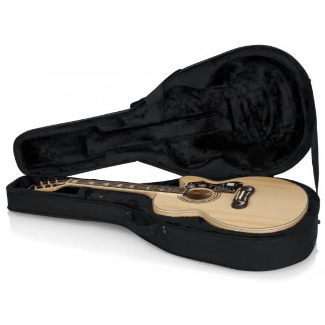 Gator GL-Jumbo Polyfoam Lightweight Case for acoustic guitar