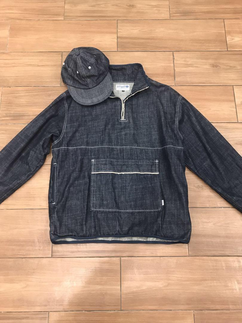 Interbreed 日本製赤耳丹寧套頭外套 帽子 美品 less