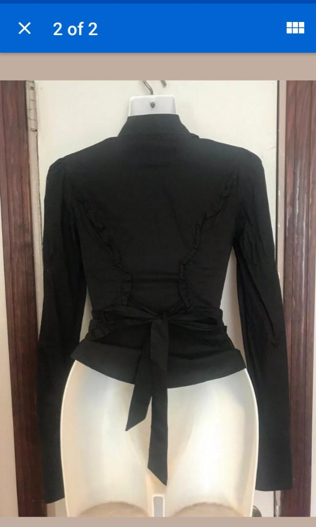 Lip Service snap up Victorian blouse formal shirt top blacklist vintage gothic XS