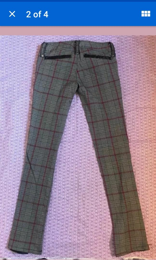Lip Service Vintage hounds of basterdville Plaid grandpa  pants XS 24 waist #SwapCA