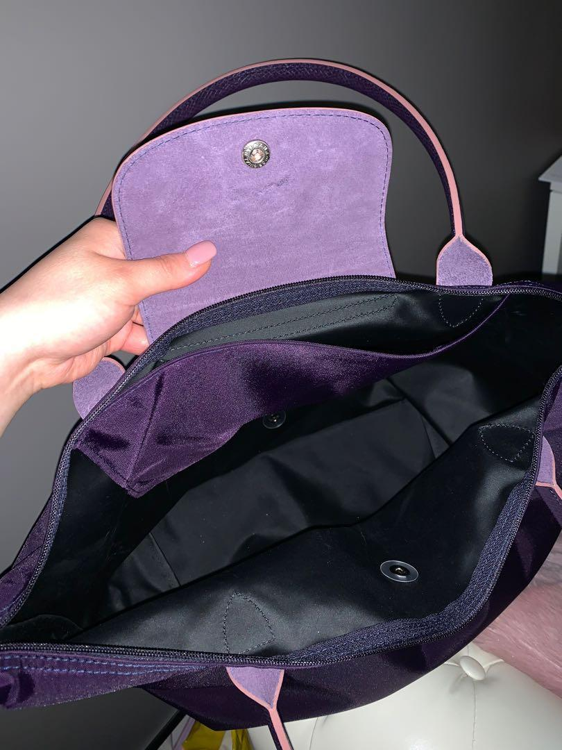 Longchamp Le Pliage Women's Large Shoulder Bag Bilberry