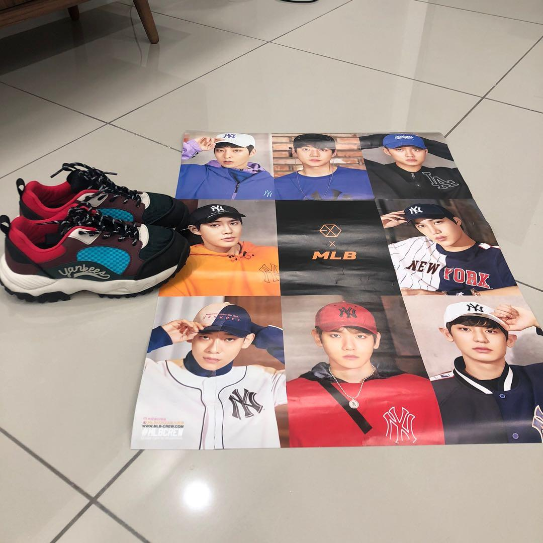 MLB EXO New York Yankees Sneakers Ground Wine Official and free poster