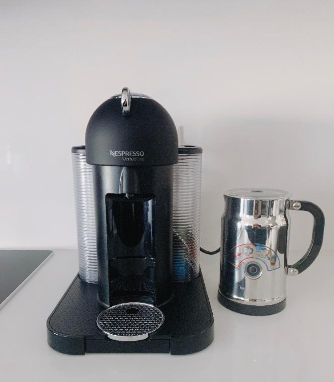 Nespresso Round Head Vertuo Black Coffee & Espresso Maker With Milk Frother