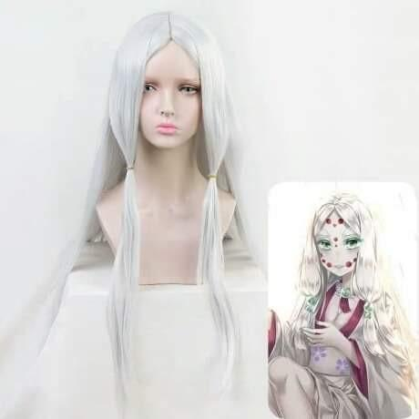 🕷RUI'S MOTHER SPIDER DEMON COSPLAY WIG KIMETSU NO YAIBA ANIME DEMON SLAYER COSTUME🕷