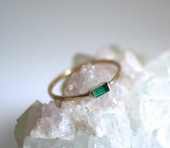 "Emerald 00.50 Carat | Silver 92.5 stamp""Emerald queen Wedding Ring 