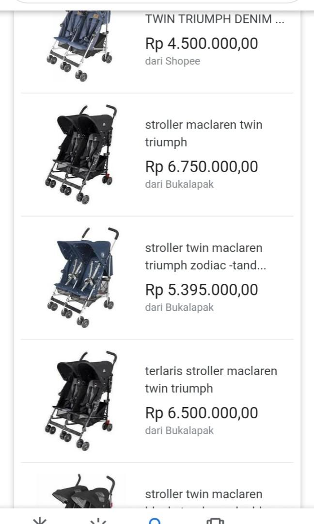 stroler maclaren twin traveler