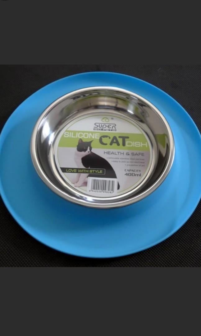 Tempat Makan Kucing Anjing Pet Cat Dog Bowl Stainless Anti Karat