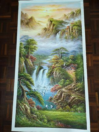 林新华山水油画