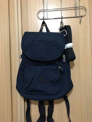 Kipling藍色新款後背包專櫃百貨正品
