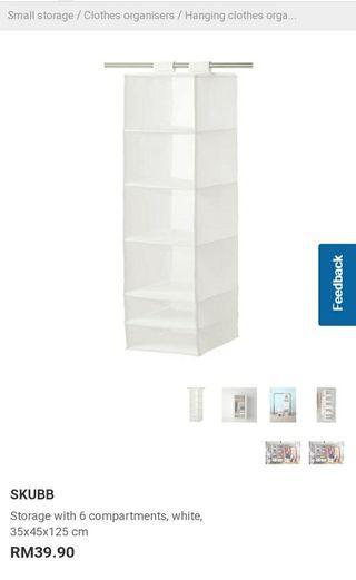 Ikea SKUBB clothing storage