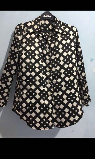 #mauovo Kemeja blouse monochrome