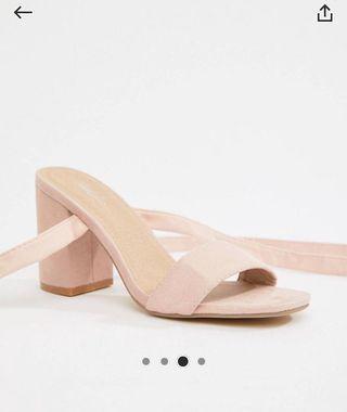 Pale Pink Block Heels