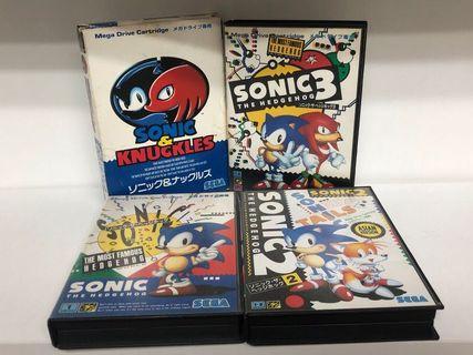 Sega MD Sonic 一套