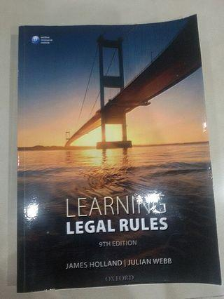UOL Year 1 Legal System and Method Textbook Learning Legal Rules 9th Edition by James Holland | Julian Webb
