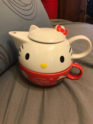 Hello kitty下午茶杯壺組