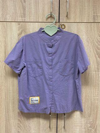 (急售)Wooplanet 行星 原宿風 灰紫色襯衫
